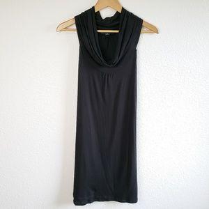 INC Cowl Neck Black Sleeveless Midi Dress D19